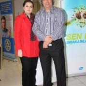 Demirtaş Rotary Kulübü Başkanı Tayfun Doğan ve eşi Özlem Doğan