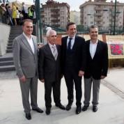 BTSO Yönetim Kurulu Başkanı İbrahim Burkay, Nilüfer Belediye Başkanı Mustafa Bozbey, Çetin Ceylan ve Aykut Uyanıklar