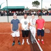 Açılışa özel olarak düzenlenen gösteri maçında milli tenisçi İpek Şenoğlu ve Ergün Zorlu nefes kesen bir maça imza attı.