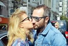 Burcu Esmersoy'dan sevgilisine veda öpücüğü
