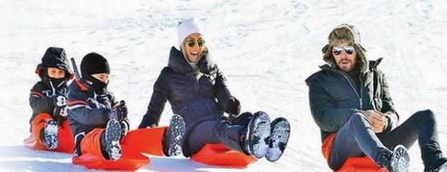 Çağla'nın kayak keyfi