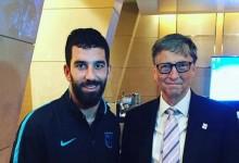 Arda Turan Bill Gates'le buluştu