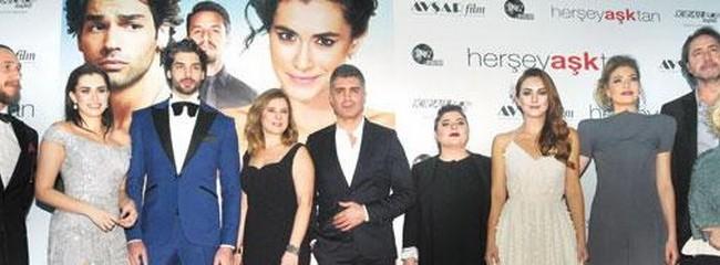 Her Şey Aşktan filminin oyunculu özel gösterimi Bursa'da