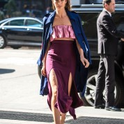 51991085 Lily Aldridge on the way to a meeting during her visit to New York City on March 8, 2016. FameFlynet, Inc - Beverly Hills, CA, USA - +1 (310) 505-9876