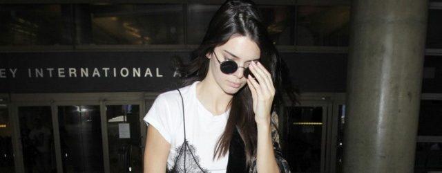 Kendall Jenner, Dantelli İç Çamaşırını Elbisesinin Üstüne Giydi