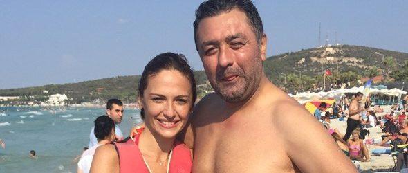 Sinem Öztürk ve eşi Mustafa Uslu tatilde