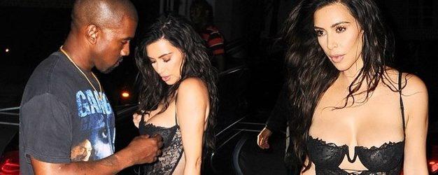 Kocası, Kim Kardashian'ın Kıyafetine Müdahale Etti