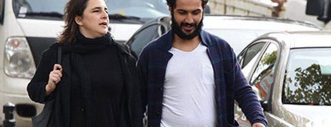 Esra Dermancıoğlu sevgilisiyle el ele