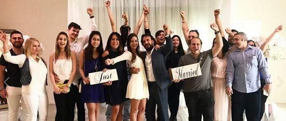 Amerika'da evlendi