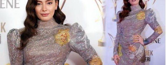 Neslihan Atagül'ün 12 kilo ağırlığındaki elbisesi