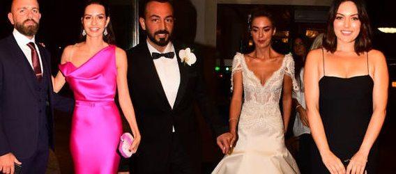 Düğüne ünlüler akın etti