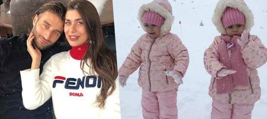 İkizler kar tatilinde!