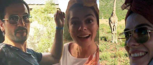 Özge Özpirinçci ve sevgilisi Burak Yamantürk safaride!