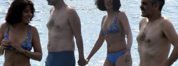 Selin Şekerci ve Caner Cindoruk'un denizde zor anları
